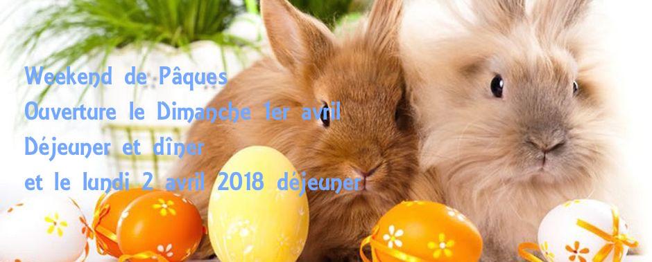Weekend de Pâques , Le Lamparo sera ouvert le Dimanche 1er Avril déjeuner et dîner , et le Lundi 02 Avril pour le déjeuner.