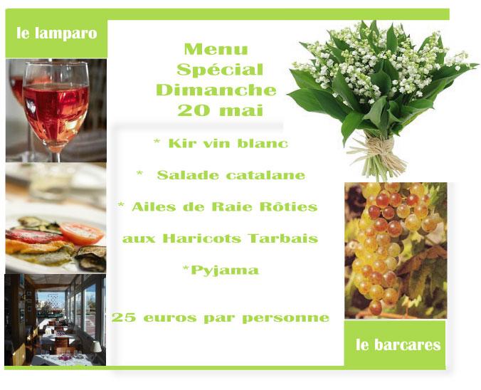 Dimanche 20 mai : Au menu !