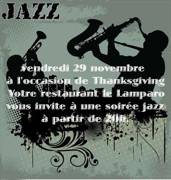 29 novembre : Soirée Jazz !