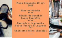 Au menu du Dimanche 20 octobre 2019
